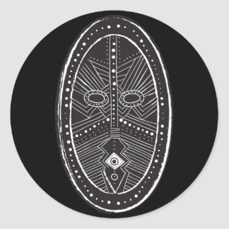 Tribal Classic Round Sticker