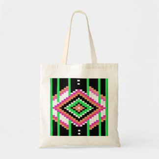 Tribal Collection Neon Green Budget Tote Budget Tote Bag