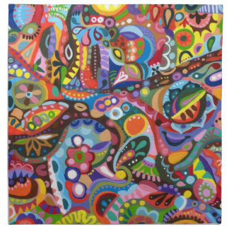 Tribal Colorful Abstract Napkin Set
