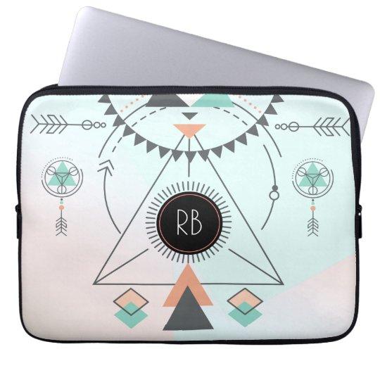 Tribal Colourful Geometric Totem Design Laptop Sleeve