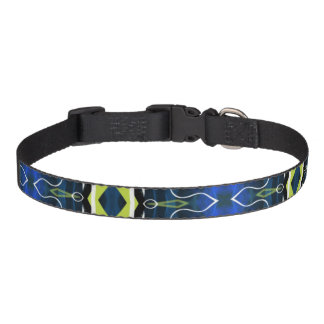 Tribal contemporary abstract custom dog collar