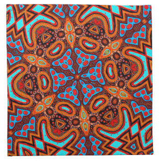 Tribal contemporary abstract designer napkins