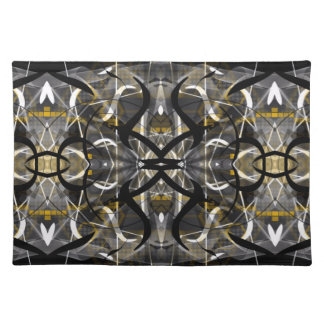 Tribal contemporary abstract designer placemat