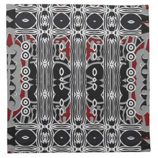 Tribal contemporary cocktail napkins