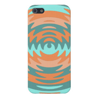 Tribal Coral Aqua Saw Blade Ripples Waves iPhone 5/5S Cases