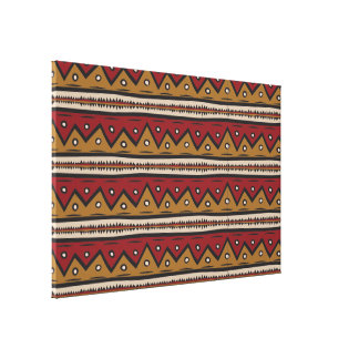 Tribal Decorative Stretched Canvas Print