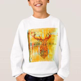 tribal deer sweatshirt