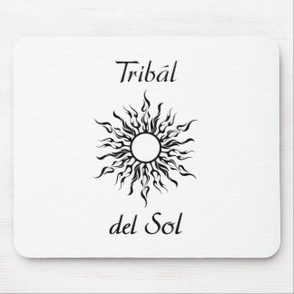 Tribal Del Sol Mouse Pad - White