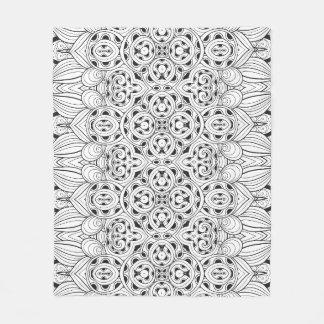 Tribal Design Fleece Blanket