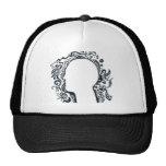 Tribal design silhouette head trucker hats