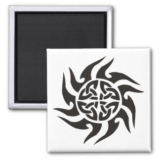 Tribal design square magnet