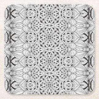 Tribal Design Square Paper Coaster