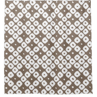 Tribal Diamonds Rustic Pattern White French Gray Shower Curtain