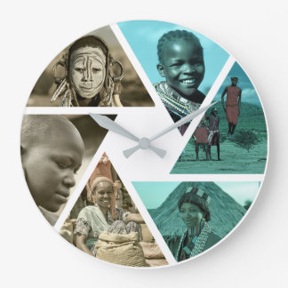 Tribal Diversity:  Africa is many different people Large Clock