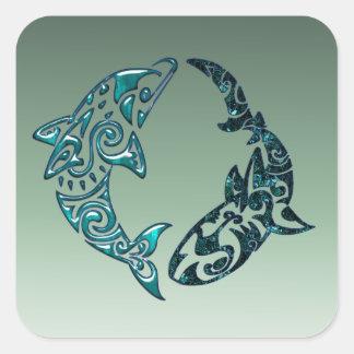 Tribal Dolphin and Shark Tattoo Stickers