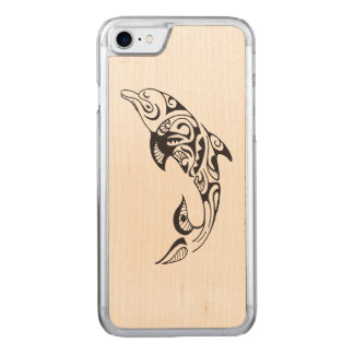 Tribal Dolphin Carved iPhone 8/7 Case