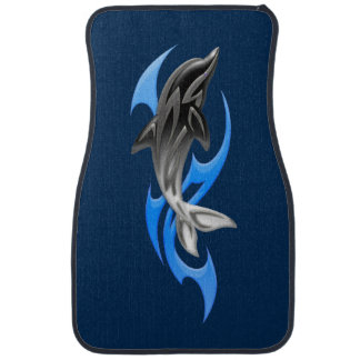 Tribal Dolphin Front Car Mat