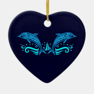 Tribal Dolphins ornament