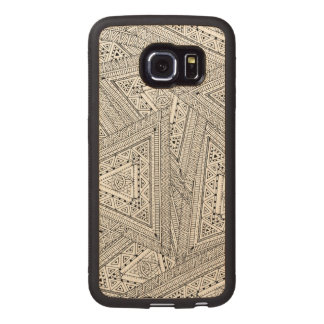 Tribal Doodle 2 Wood Phone Case