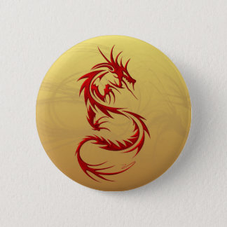Tribal Dragon 6 Cm Round Badge