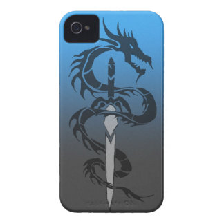 tribal dragon and sword phone case