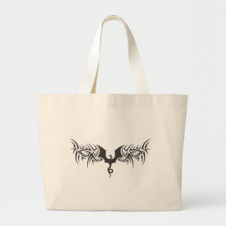 tribal dragon large tote bag