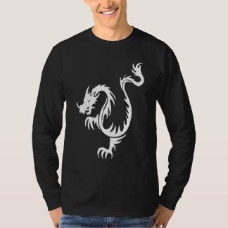 Tribal Dragon Long Sleeve Black T-shirt