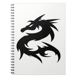 Tribal Dragon Silhouette Notebook