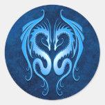 Tribal Dragons, blue