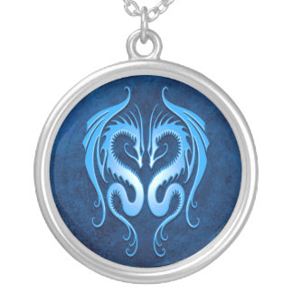 Tribal Dragons, blue Necklace