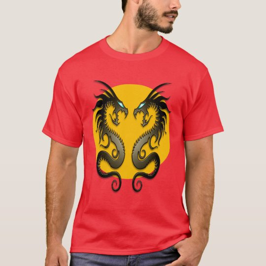 Tribal Dragons (yellow) T-Shirt