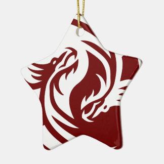 Tribal Dragons Yin Yang (Customizable) Christmas Ornament