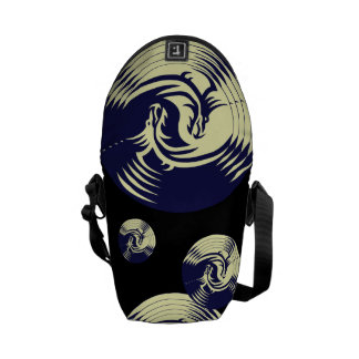 Tribal Dragons Yin Yang (Customizable) Courier Bags