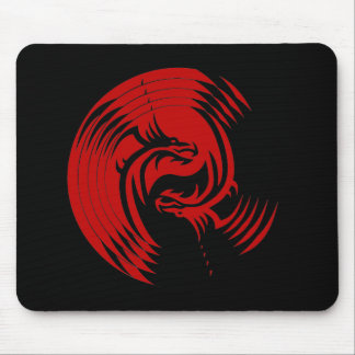 Tribal Dragons Yin Yang (Customizable) Mouse Mat