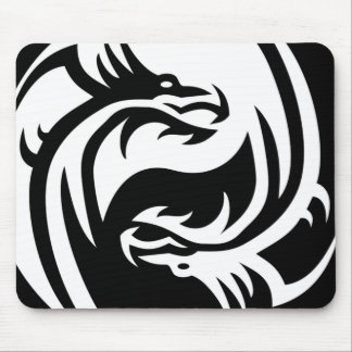 Tribal Dragons Yin Yang (Customize It!) Mouse Pads