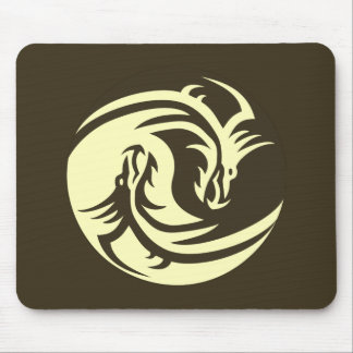 Tribal Dragons Yin Yang (Personalize It!) Mouse Pad