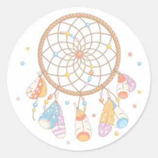 Tribal Dreamcatcher Boho Baby Classic Round Sticker