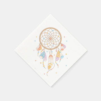 Tribal Dreamcatcher Boho Baby Disposable Napkins