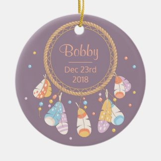 Tribal Dreamcatcher Boho New Baby Keepsake Christmas Ornament
