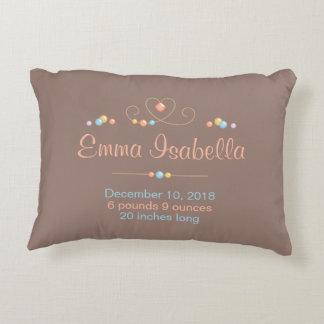 Tribal Dreamcatcher New Baby Name Birth Keepsake Decorative Cushion