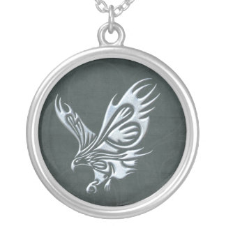Tribal Eagle Silver Plated Necklace