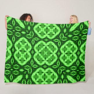 Tribal Earth Spirits Plush Mandala Medicine Quilt Fleece Blanket