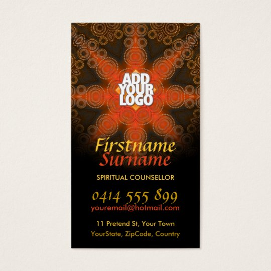 Tribal Earth Star New Age Art Business Cards