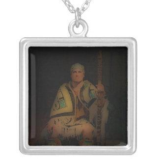 'Tribal Elder' Square Pendant Necklace