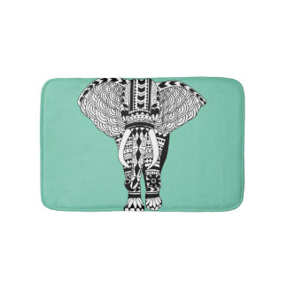 Tribal Elephant Bath Mat