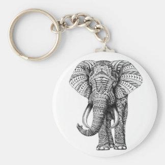 tribal elephant key ring