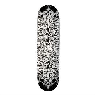 Tribal Empire Tattoo Black and White Skateboard