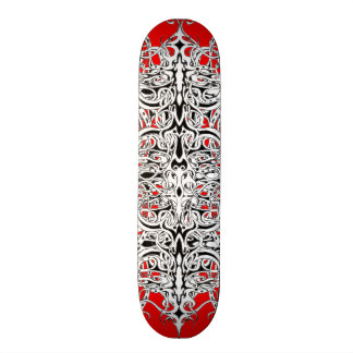 Tribal Empire Tattoo red white black 19.7 Cm Skateboard Deck