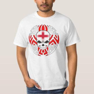 Tribal English Flag/Skull T-Shirt