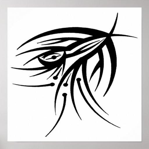Tribal Eye Tattoo Poster